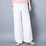 2017年春の中国スタイルの綿の広い脚のズボンの衣装国民の風レトロカジュアルな緩いリネンのズボン女性