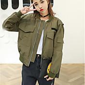 firmar 2017 versión coreana de la primavera modelos de viento de la universidad sencilla bolsillo grande de béisbol ocasional chaqueta del