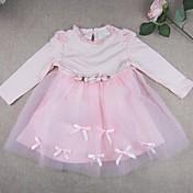 Vestido Bebé-Noche-Un Color-Algodón Nailon-Primavera Otoño-