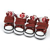 Psi Cipele i čizme Zima Ljeto Proljeće/Jesen Moda Sportske Color block Crn Braon Crvena Plava