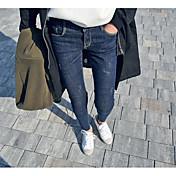 2017 primavera delgado era delgada pies pantalones de mezclilla cintura elástica pantalones lápiz marea versión coreana