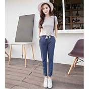 パンツ17綿の夏の新しい模造広い曲halunパンツ大きいサイズの弾性ウエストパンツスラックス