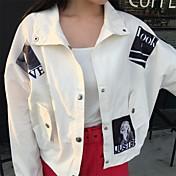 香港の味のレトロなルーズカジュアルな長袖ジャケットコートソリッドカラーデカールのサイン韓国版