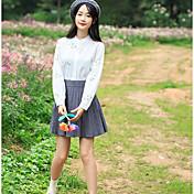 #6830の価格ではない未満68小さな新鮮な日本の刺繍入り長袖の白いシャツシャツ女性のミニマリスト