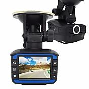 2 en 1 radar DVR coche detector 720p rociada leva g-sensor de la cámara grabadora de vídeo de coche registrator anti-radar detector