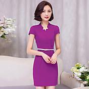 サイン夏の新しい半袖ドレスの女性の職業摩耗ビッグヤードスリム