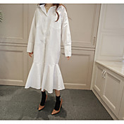 Vestido de cola de pescado blanco estilo mancha grande