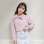 &amperio; firmar pequeños modelos de valores de Corea femenina camisa de manga larga frescas dulces muelle 17 años