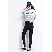 記号#冬新黒灰色のジーンズ女性のハーレムパンツ緩いウエストニンジンパンツ