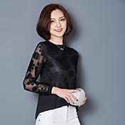 signo de la gasa de la camisa femenina 2017 resorte de la nueva canción de ancho coreano Leisi camisa que basa la camisa era delgado manga