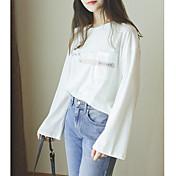 Signo nuevo invierno de algodón cuello redondo de manga larga camiseta Inglés letras impresas mujeres