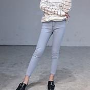 signo # nuevo tramo de mezclilla delgada pantalones de lápiz delgado era pies femeninos
