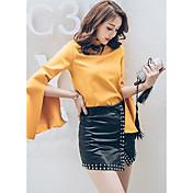 ヨーロッパとアメリカの潮のブランドのレジャーワイルドスリムビーズスプリットスカートバストで2017春モデルを署名