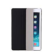 用途 ケース カバー スタンド付き オートオン/オフ フリップ 半透明 折りたたみ式 フルボディー ケース 純色 ハード PUレザー のために AppleiPad(2017) iPad Pro 9.7'' iPad Air 2 iPad Air iPad Mini 4
