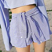falda de encaje gran mancha coreano camisa de manga lúdico faldas estilo encantador cortos rayado salvaje