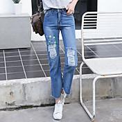 firmar agujeros de grasa sueltos coreano mm universitarios en jeans medias de mujer
