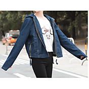 Signo coreano azul oscuro denim chaqueta hembra bf viento suelto denim prendas de vestir modelos de moda
