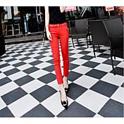 Signo 2016 verano nuevo coreano tidal modelos significativamente delgado salvaje negro pantalones casuales pies femeninos nueve puntos
