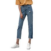 signo de la primavera 2017 vaqueros laterales triangulares pantalones vaqueros de diseño del encanto del color de los pantalones