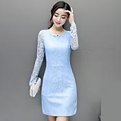 firmar la primavera versión coreana de la nueva del vestido del cordón del otoño 2017 faldas de la cadera del paquete mujer delgada