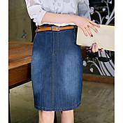 Signo 9889 # 2017 nueva falda grande de la falda del dril de algodón del tamaño s a 4xl envía la correa