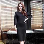 重要なひょろっとモデルの底入れ2017春新気質セクシーなドレスは、小さな黒いスポット本物のショットをビーズ
