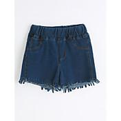 Shorts Chica Casual/Diario Un Color AlgodónVerano