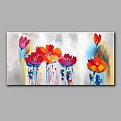 Pintada a mano Floral/Botánico Horizontal,Modern Un Panel Lienzos Pintura al óleo pintada a colgar For Decoración hogareña
