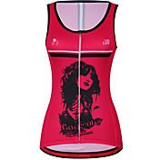 Chaleco de Ciclismo Mujer Sin Mangas Bicicleta Chalecos Tank Tops/Camiseta Secado rápido Transpirable Reductor del Sudor Cómodo 100%