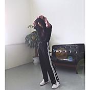レディース シンプル ストリートファッション 活発的 ハイライズ ルーズ ストレート strenchy チノパン パンツ ゼブラプリント ストライプ