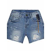 レディース ストリートファッション ハイライズ ストレート strenchy ジーンズ ショーツ パンツ ゼブラプリント