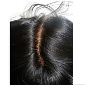 Cierre recto de seda del cordón 3.5 * 4inch de la seda con el pelo remy del pelo del pelo humano