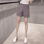 Mujer Chic de Calle Tiro Alto strenchy Chinos Pantalones,Delgado Un Color
