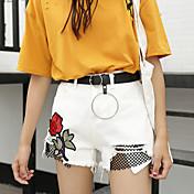 Mujer Chic de Calle Tiro Alto strenchy Shorts Pantalones,Corte Recto Estampado