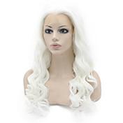 Mujer Pelucas sintéticas Encaje Frontal Largo Suelto Blanco Entradas Naturales Peluca natural Peluca de Halloween Peluca de carnaval Las
