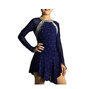 Klizačke haljine Žene Djevojčice Dugih rukava Skating Haljine i suknje Haljine Visoka elastičnost Umjetničko klizanje prerušiti Štras