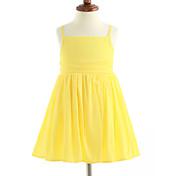 女の子の ゼブラプリント コットン ドレス ノースリーブ