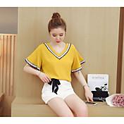 レディース ワーク 春 Tシャツ(21) パンツ スーツ,セクシー ラウンドネック ゼブラプリント 半袖