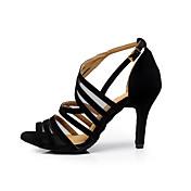 Personalizables Mujer Latino Zapatillas de Baile Salsa Aterciopelado Sandalias Entrenamiento Principiante Profesional Interior Hebilla