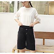 レディース ストリートファッション ミッドライズ ルーズ マイクロエラスティック ショーツ パンツ ゼブラプリント