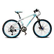 マウンテンバイク サイクリング 27スピード 26 inch/700CC BB5ディスクブレーキ サスペンションフォーク アルミ合金フレーム ハードテールフレーム アンチスリップ アルミニウム合金
