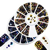 2 Decoración de uñas Las perlas de diamantes de imitación maquillaje cosmético Dise?o de manicura
