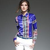 レディース プラスサイズ Tシャツ,セクシー Vネック ソリッド シルク 長袖