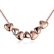 Dámské Obojkové náhrdelníky Náhrdelníky s přívěšky Šperky Kubický zirkon Heart Shape Geometric ShapeKřišťál Měď Pozlacené Růže pozlacená