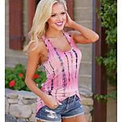 レディース ビーチ 夏 Tシャツ,セクシー ラウンドネック ソリッド コットン 半袖 薄手