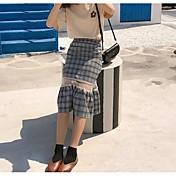 Mujer Casual/Diario Midi Faldas,Línea A Verano Bloque de Color