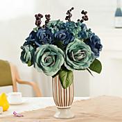 1 Pieza 1 Rama Seda Rosas Flor de Mesa Flores Artificiales