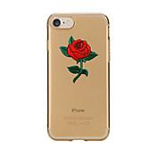 Para iPhone X iPhone 8 Carcasa Funda Transparente Diseños Cubierta Trasera Funda Flor Suave TPU para Apple iPhone X iPhone 8 Plus iPhone