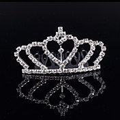 Kristal Umjetno drago kamenje Legura Glava-Vjenčanje Special Occasion Zabava / večer Tiaras Kosa Combs 1 komad