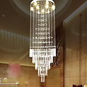 Estilo europeo escalera lámpara colgante simple cristal araña escalera lámpara hotel chalet duplex